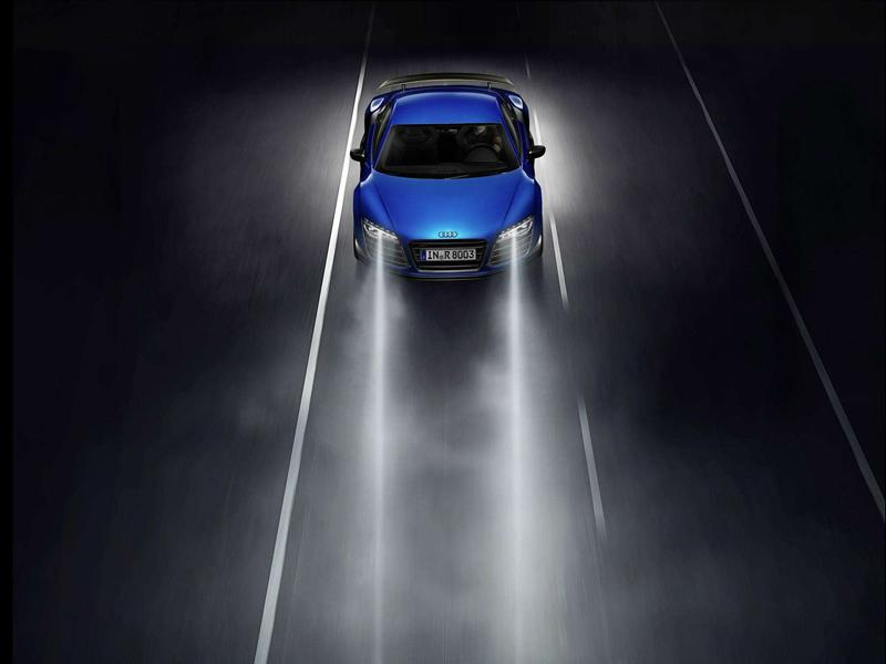 car driving lights